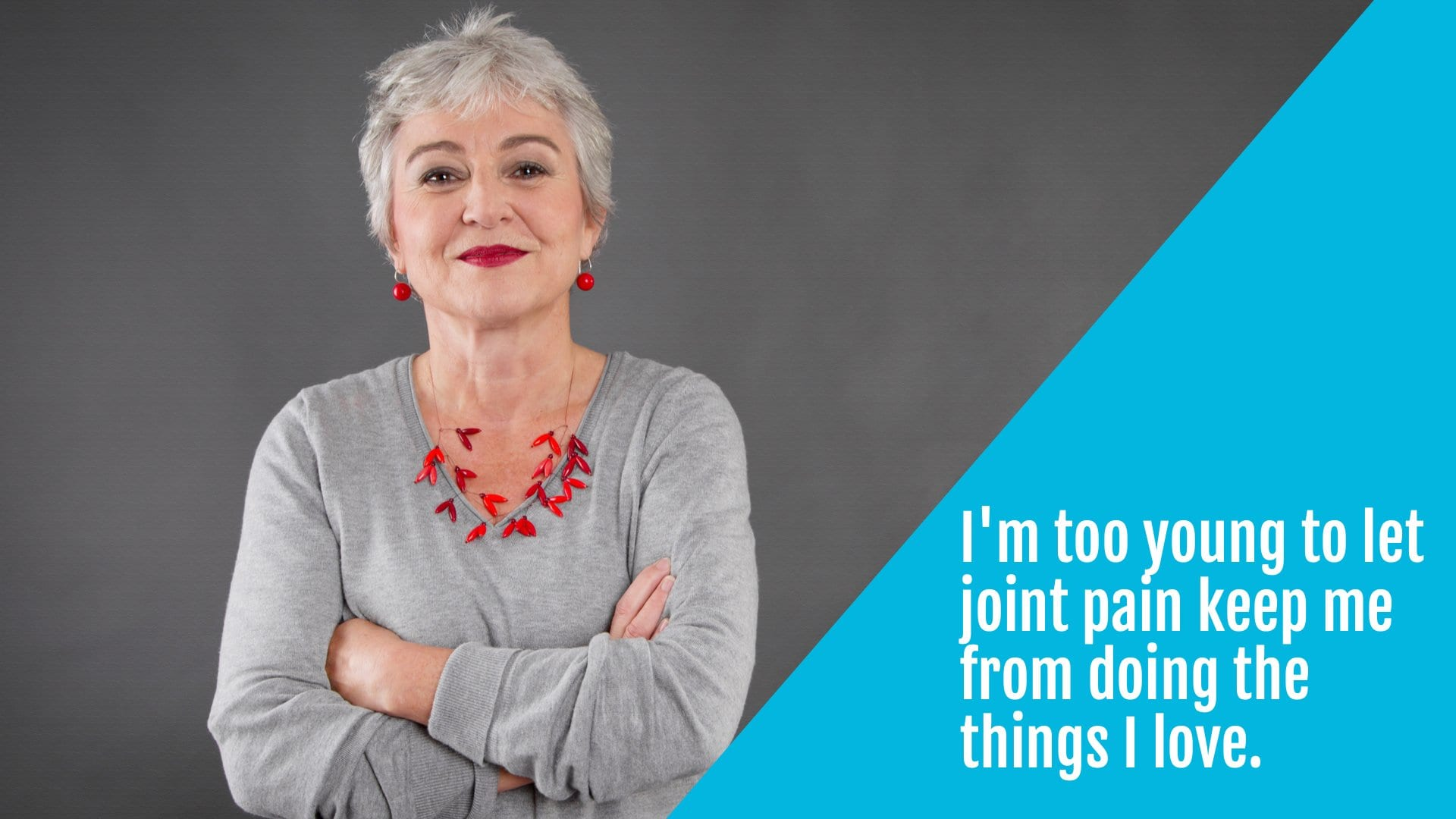 active older woman addresses joint pain