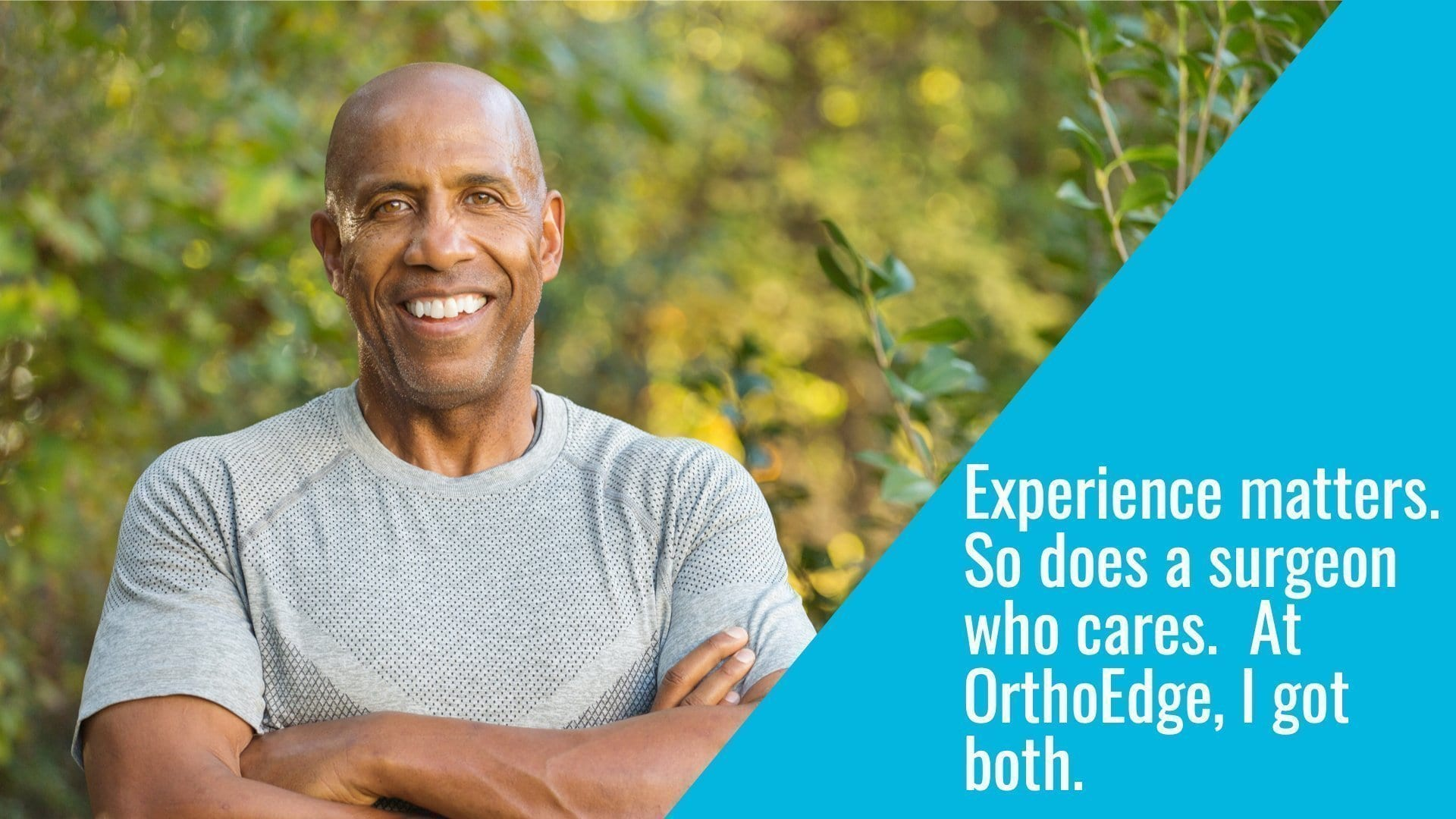 mature male patient addresses importance of picking an experienced surgeon